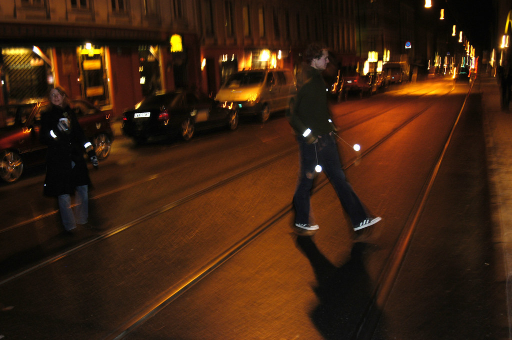 Pedestrian Safety Use Retroreflectors In The Dark Flickr