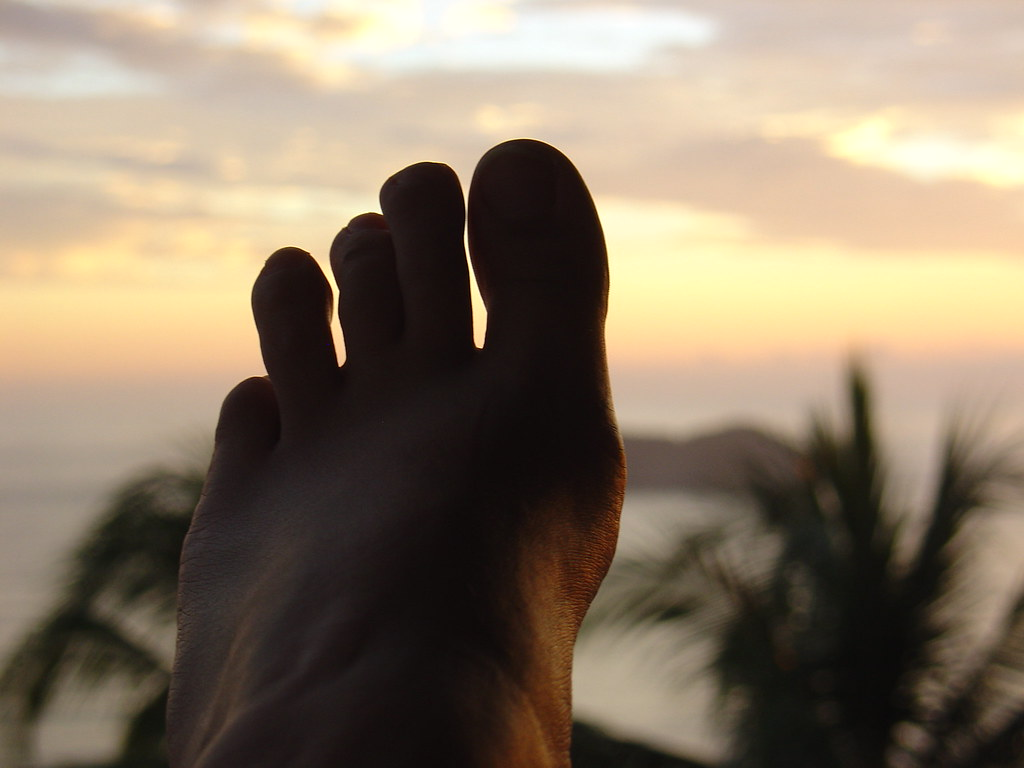 no, I am not missing my little toe   ...it's just a little ...