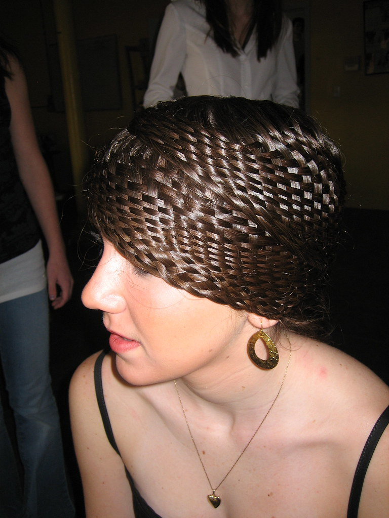 Basketweave Hair Design Parlordiary Not Sure Who Did Flickr