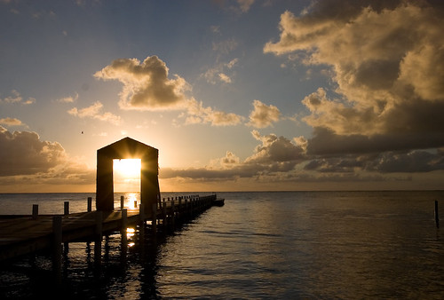 Sunrise in Ambergris Caye, Belize | by Brian Vallelunga