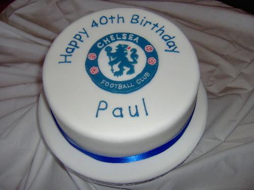 Chelsea Birthday Cake Chelsea Fc Crest Cake Flickr