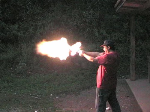 44 Mag Flash This Is A Ruger Redhawk Chambered In 44