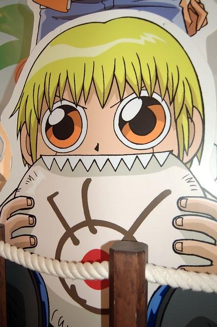 Anime Characters Eating : Creepy anime character eating the fuji tv logo randy