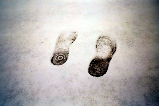 Footsteps in snow | by LOMORAMA