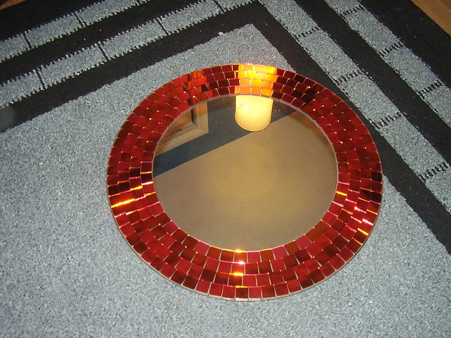 Ikea Round Mosaic Mirror Red 20 Flickr Photo Sharing