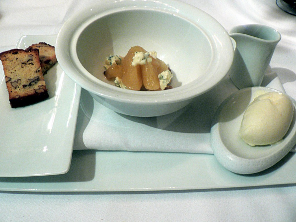 gorgonzola pear | Delicious pear sorbet with brown butter pe ...