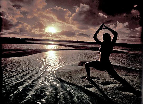 Yoga Sunset with filter | by Fiona Ayerst