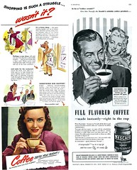 Two 1/2 Page Vintage Coffee Ads - 1945 | by kocojim