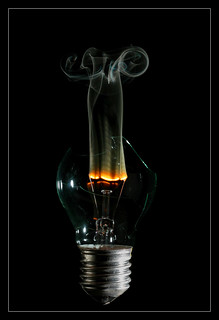 burning bulb 1 | by mad_airbrush