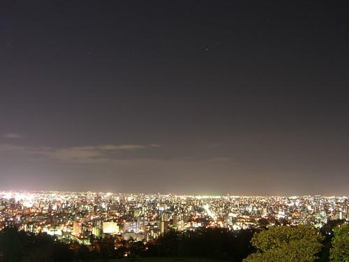旭山記念公園から見た夜景