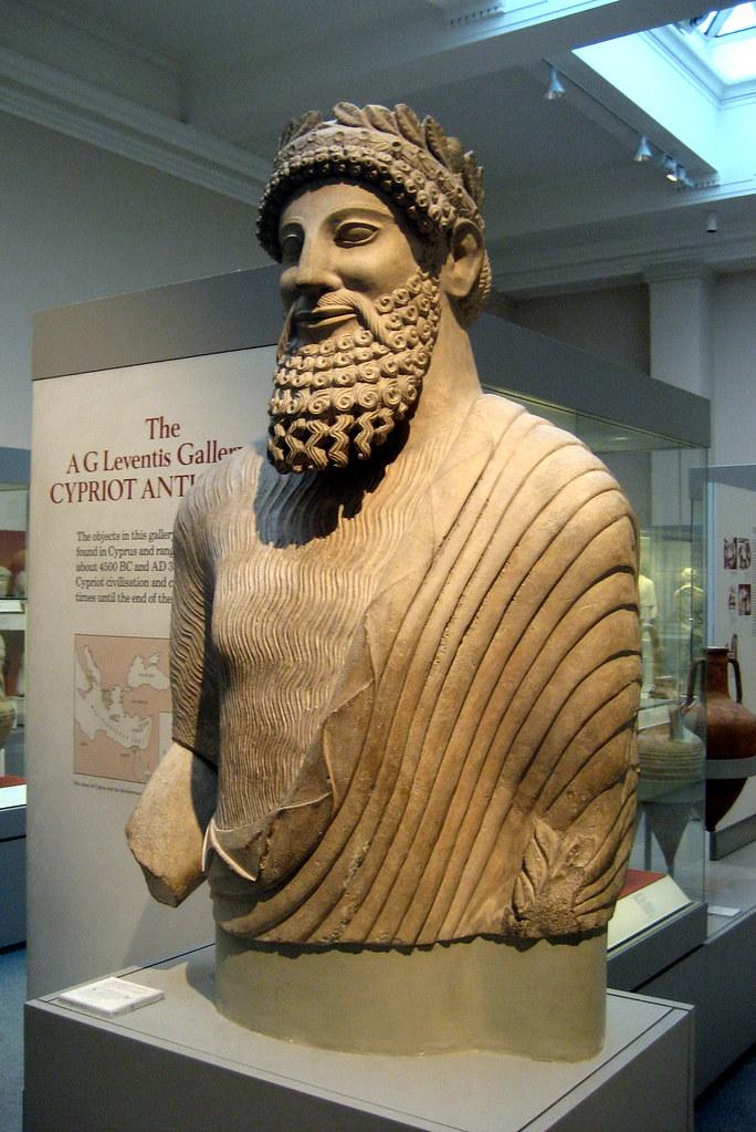 Uk London Bloomsbury British Museum Cypriot Statue