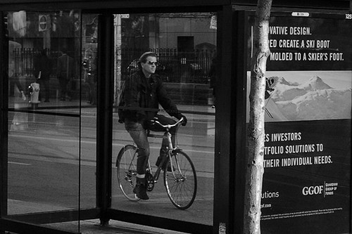Framed Cyclist | by sevres-babylone