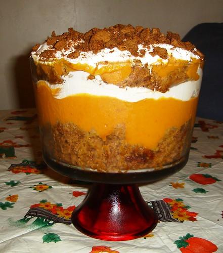 Thanksgiving Dessert Pumpkin Gingerbread Trifle Thank
