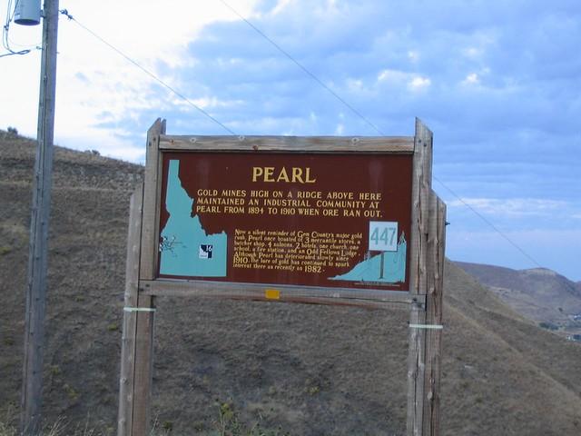 Pearl Idaho Historical Marker 447 Emmett Idaho Gold Min Flickr