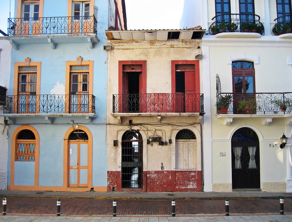 Streetscape facade in old panama city casco viejo distri - Casco antiguo de lisboa ...