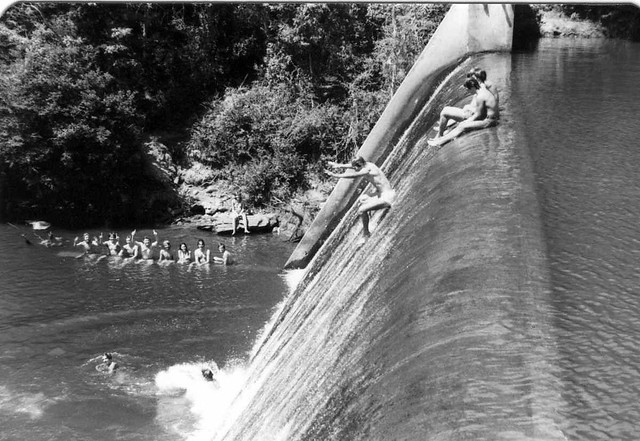 Sliding Down Issaqueena Dam Clemson 1975 That S Me Part