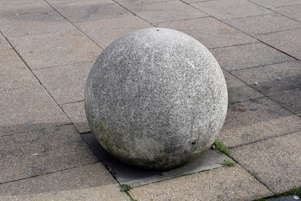 Concrete Ball Norwich Norfolk England Uk Leo