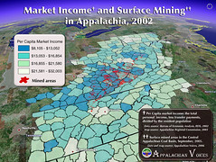 Per Capita Market Income and Surface Mining in Appalachia | by iLoveMountains.org