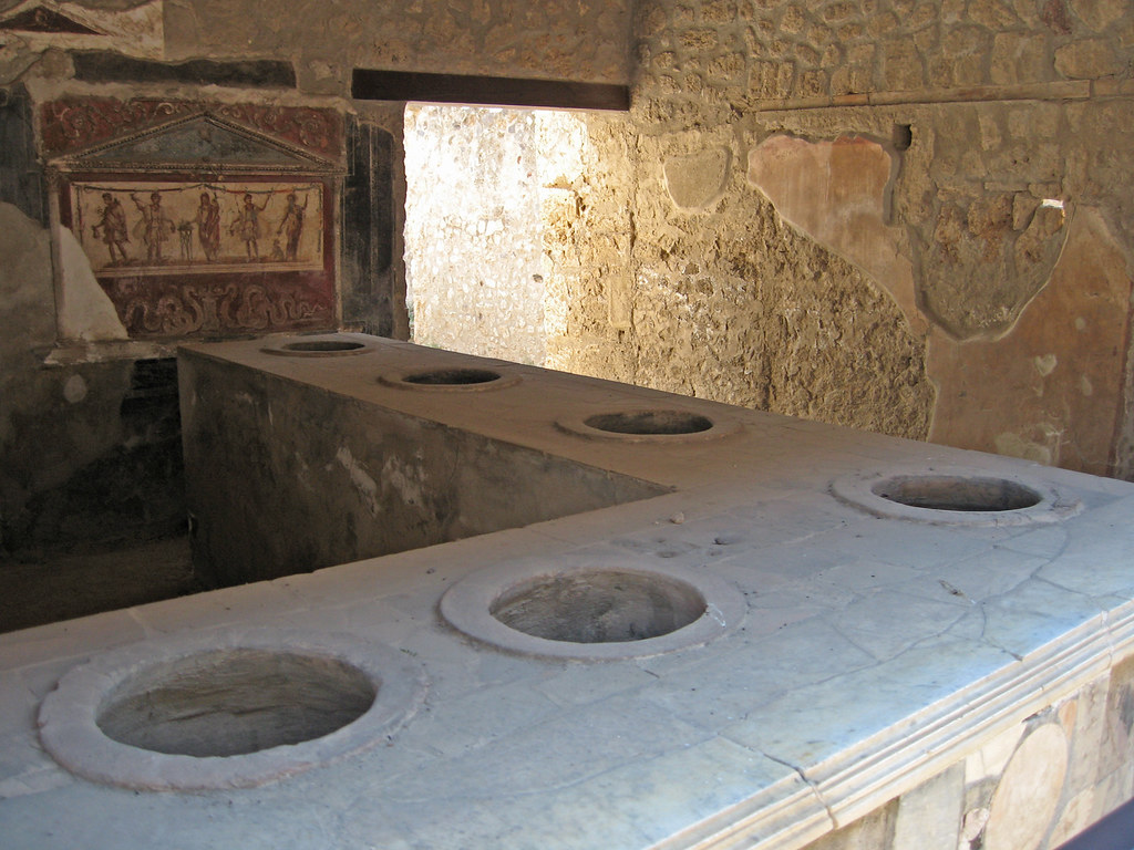 Pompeii Toilets Jzila Flickr