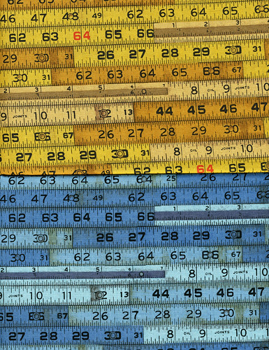two different tape measure fabrics | by Bird in the Hand