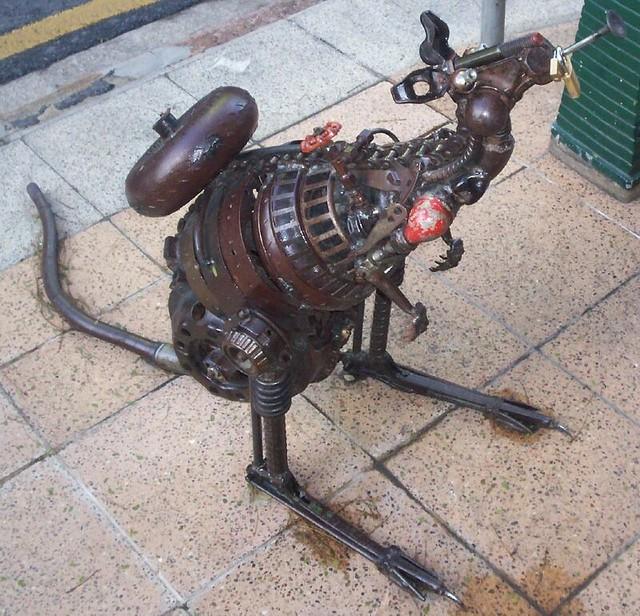 Kangaroo Sculpture on George St, Brisbane, Australia, between Adelaide St and Ann St