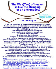 Tao-The Way of Heaven is like the stringing of an ancient bow | by LAO TZU - FALLING IN TAO