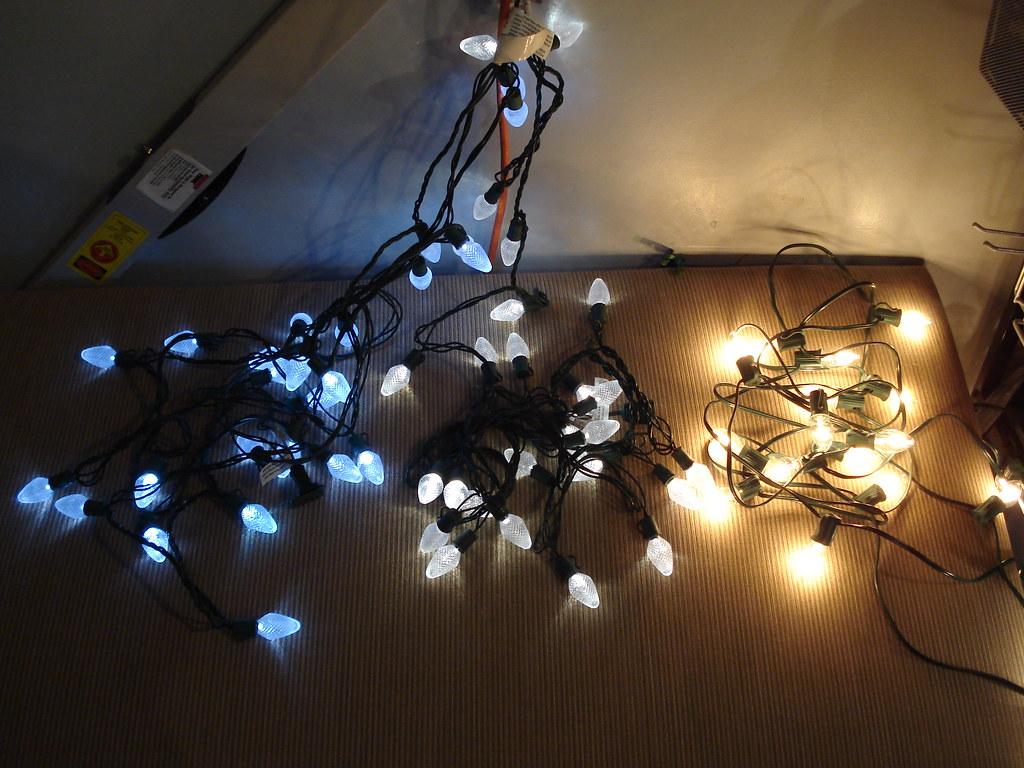 led christmas lights vs  traditional