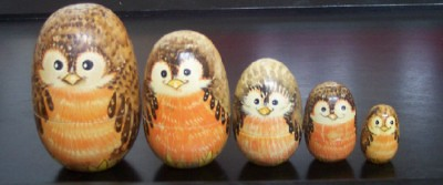 Vintage Stacking Owls from Gruene | by artsmith_satx