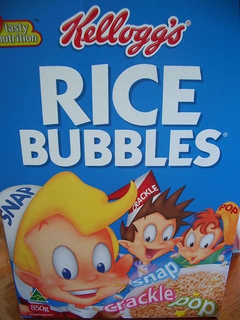 Kellogg's Rice Bubbles | It's really interesting how the ... Kelloggs Rice Krispies