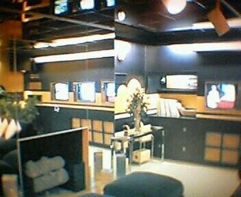 Elvis' TV room in the basement of Graceland, Memphis, Tenn ...