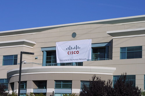 Banner of Cisco's new company logo | by Zengame