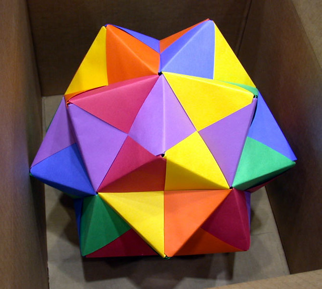 origami polyhedron made by a student whose name i dont
