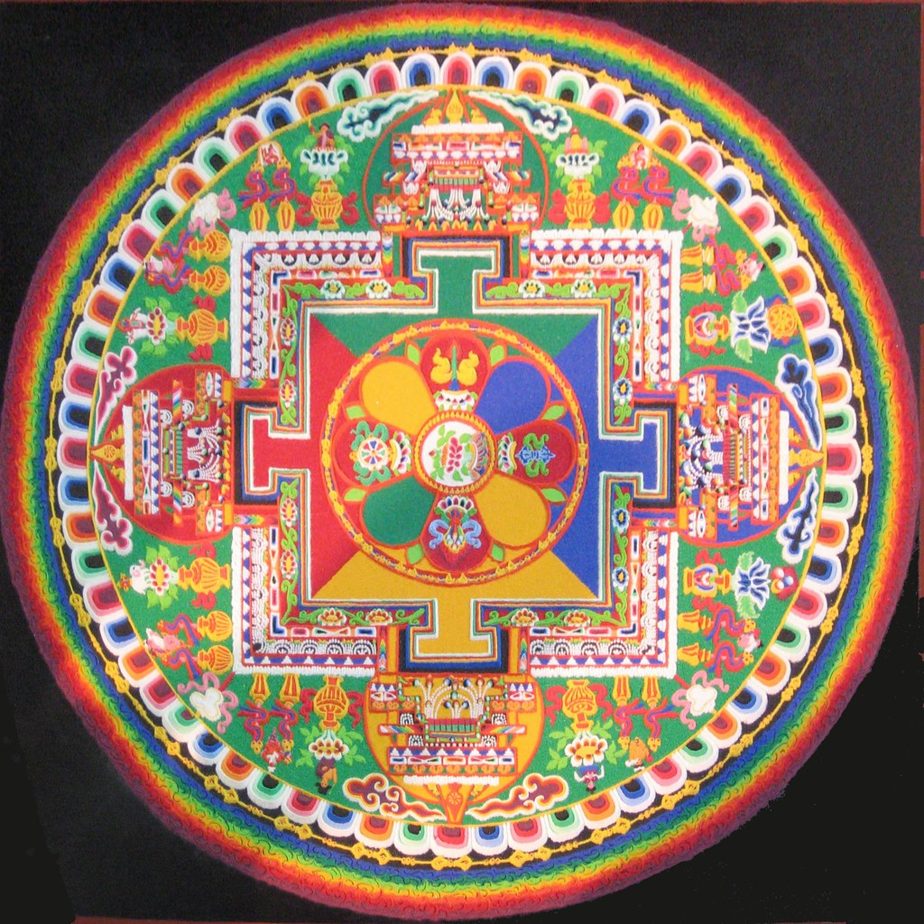 Sand Painting - Mandala | This was done by Tibetan monks ...