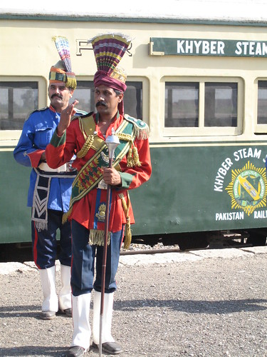 The pipe band leader, Jamrud, Khyber Pass Steam Safari (1) | by Mary Loosemore