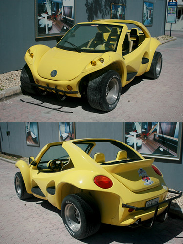 "vw dune buggy | I'd never seen a ""new beetle"" turned into a … 