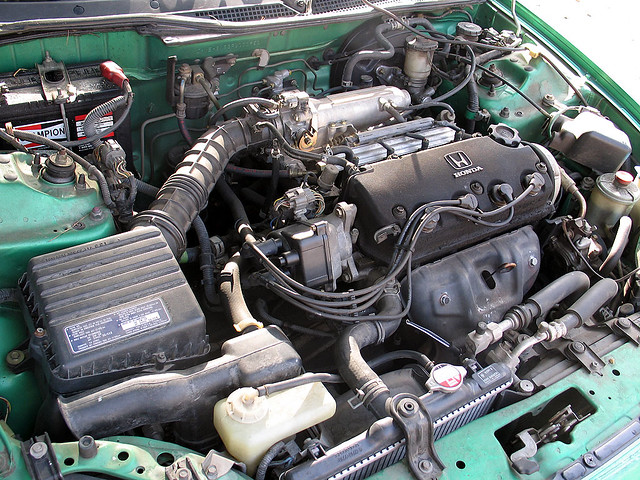 1993 Honda Del Sol Si - Engine Bay | Recent maintainance: Re… | Flickr