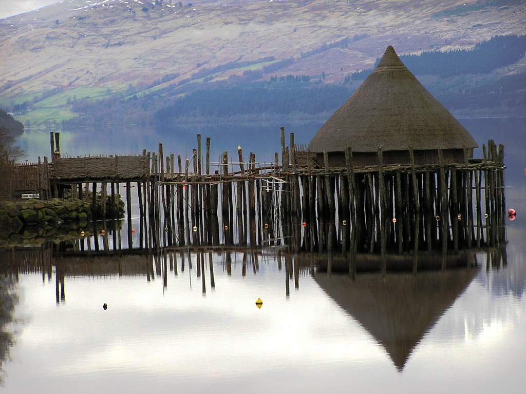 While it may look the part, there is very little evidence that the Irish or Scots constructed their crannóga on stilts. Instead they were bedded down onto the floor of the lake, which certainly provided far greater stability in the harsh environment of north-western Europe
