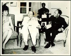Madame Fathia and President Kwame Nkrumah honors Dr. WEB Dubois on his 95th birthday in Ghana on February 23, 1963. | by Pan-African News Wire Photo File
