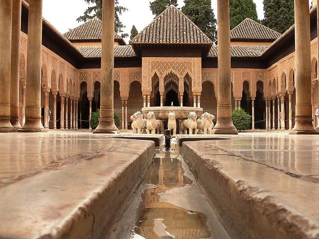 Patio leones 01 el patio de los leones en la alhambra de - Patios de granada ...