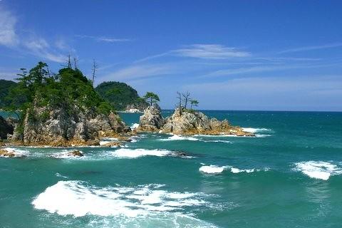 Uradome Kaigan Beach Tottori Japan A Beautiful Day