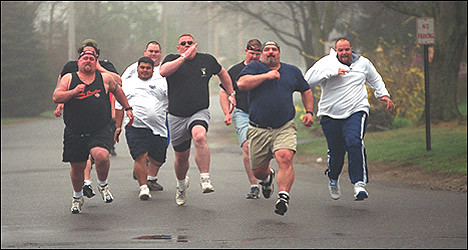 Image result for fat guy running