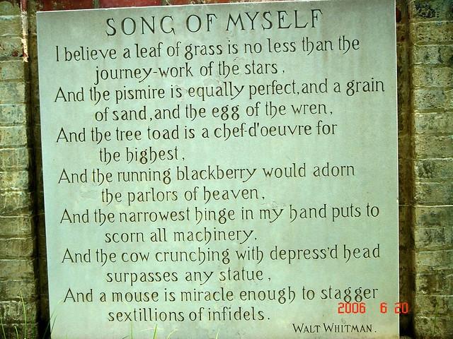 songs of myself poem