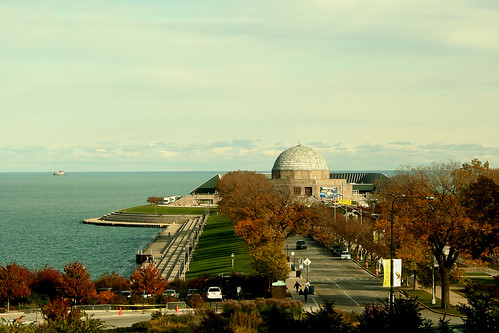 Adler Planetarium as seen from the Field Museum | by BitHead