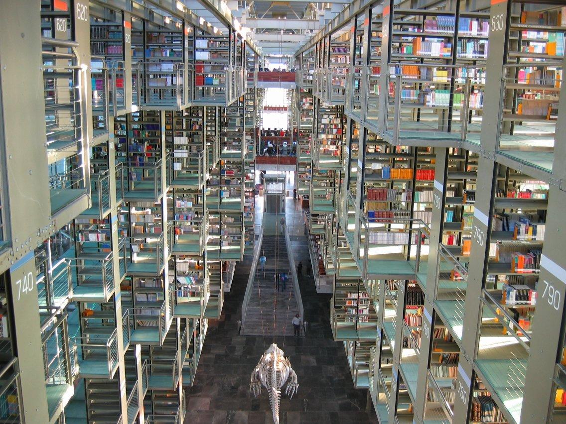 Biblioteca José Vasconcelos, contenido
