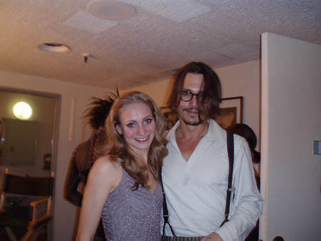 Johnny Depp Backstage ... Johnny Depp