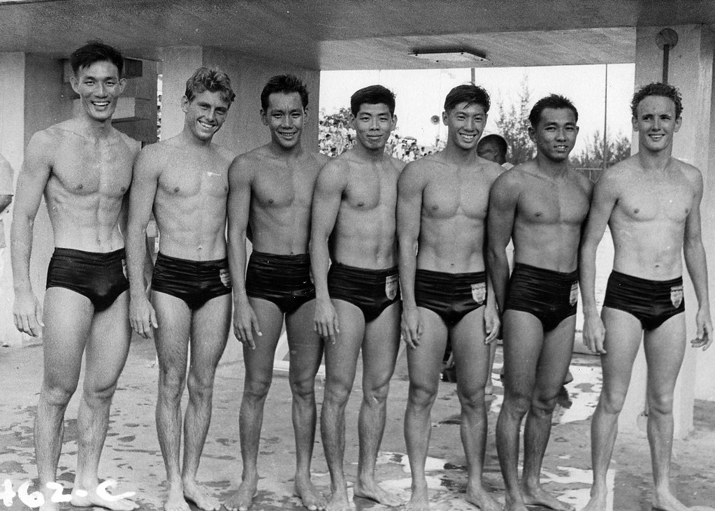 Singapore 1956 Olympic Water Polo Team Singapore 1956