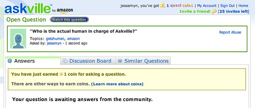 my question on askville | by jessamyn