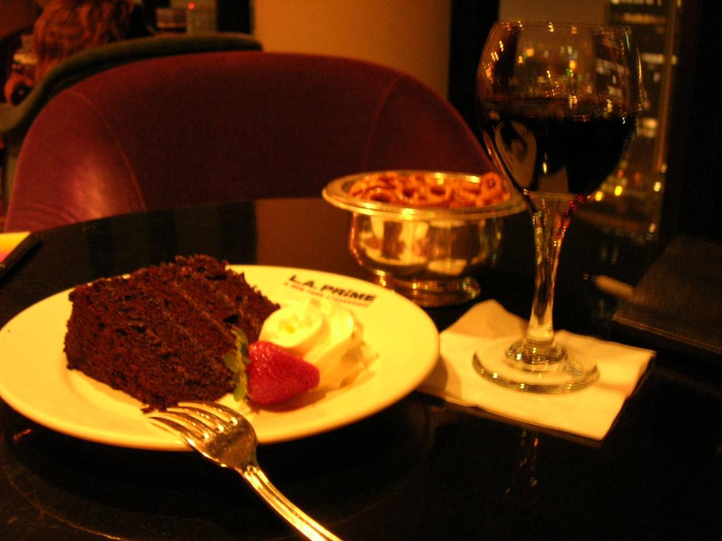 Chocolate Red Wine Strawberry Cake