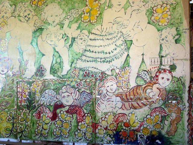 Mirka Mora Wall Painting Tolarno S I Took This Photo