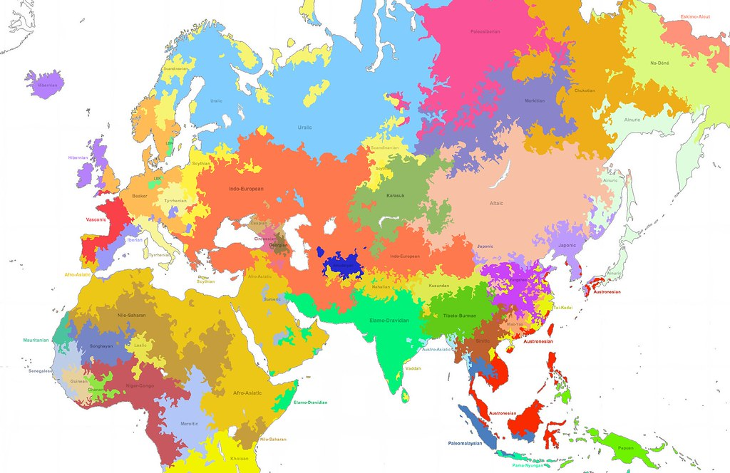 Linguistic Map Of The Old World BCE Language Families Flickr - Linguistic map of the world